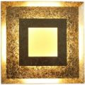 LED-Wandleuchte Window, 32×32 cm, gold
